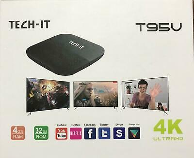 T95V 4K Wifi 1080P Decoder Android 7.1 Quad Core Bluetooth 4Gb Smart Box Tv