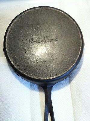 Maid of Honor # 8 Cast Iron Skillet w/ Heat Ring - Restored - Late 40's Vintage