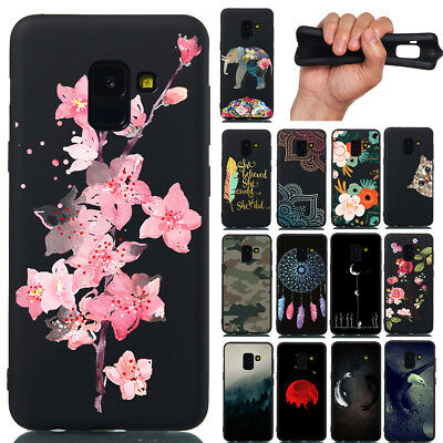 For Samsung Galaxy A6 A8 Plus J4 J6 J2 Pro 2018 Soft Painted TPU Back Case Cover