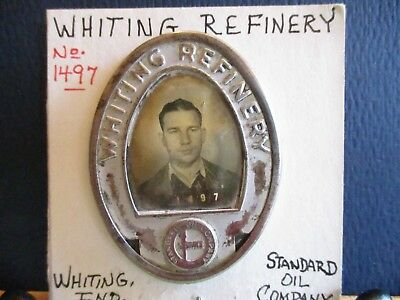 Vintage Standard Oil, Whiting Refinery, Picture Style Employee Badge