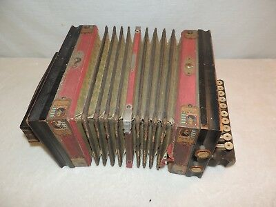 Vintage Hohner Gold Medal St Louis Worlds Fair 1904 Concertina Accordian