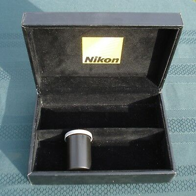 NIKON 35mm FILM BOX FAUX LEATHER & VELOUR HOLDS 10 FILM CANNISTERS / MISC. STUFF