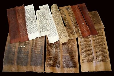 Large Collection Of Ancient Bible Scrolls & Fragments 150-450 Yrs Old