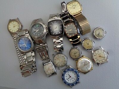 Job Lot Of Old Ladies And Gents Watches For Repair Or Spares x 14