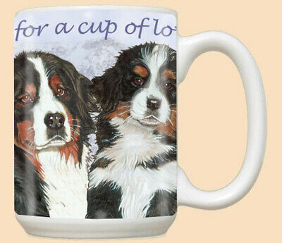 Bernese Mountain Dog Bernese Dog Ceramic Coffee Mug Tea Cup 15 oz