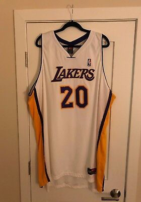 Gary Payton  20 NBA Nike Authentic Los Angeles Lakers Home Gold Jersey 60  NWT 0a99f23ba