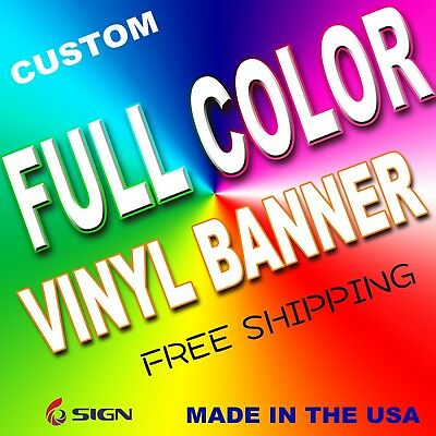 2' x 4'Full Color Custom Vinyl Banner Free Shipping celebration birthday meeting