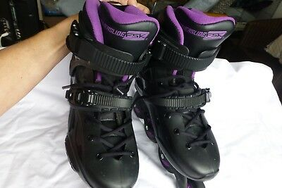 Powerslide Imperial FSK Women's Inline Skates, Size UK6 Black & Purple.