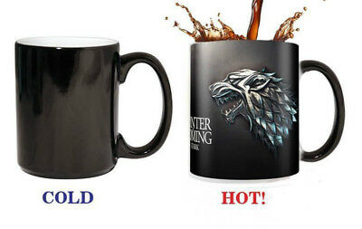 Magic Game of thrones House stark Tea Hot heat sensitive Changing Color Gift Mug