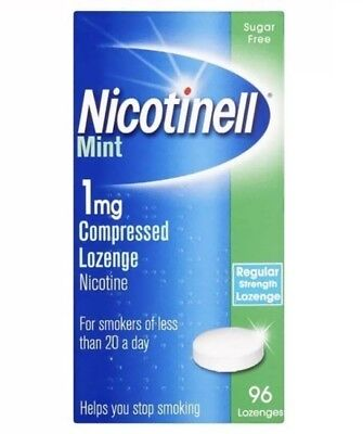 2x Nicotinell Mint 1mg Compressed Lozenge Nicotine Sugar Free 96