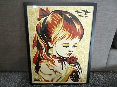Shepard Fairey Obey Giant PEACE GIRL War By Numbers ART PRINT PROOF POSTER FRAME