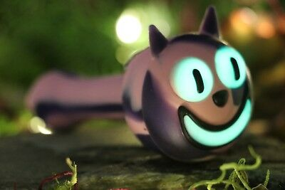 "4.5"" INCH Silicone Cheshire Cat GITD TOBACCO Smoking Pipe Herb Bowl Hand Pipes"
