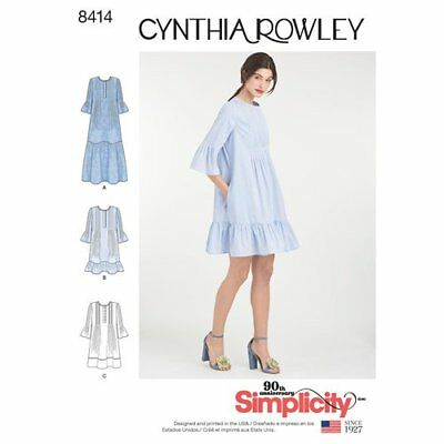 Simplicity Sewing Pattern 8414 Misses 6-24 Loose Tent Dresses Cynthia Rowley