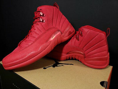 "AIR JORDAN 12 RETRO ""BULLS"" 130690-601 Gym Red Black Men's and GS Sizes"