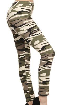 Camo Fur Lined Leggings