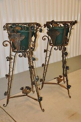 Matched Pair Of Iron Victorian Planters