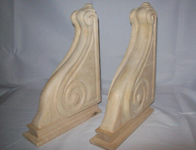PAIR Victorian Design Wood Corbels Shelf Mantle Brackets 13-1/16 x 9-3/16 ,2-5/8