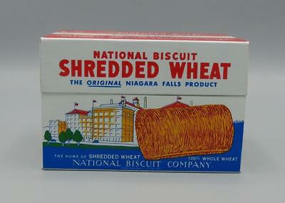 Recipes Box Tin National Biscuit Shredded Wheat 1973