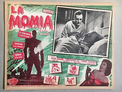 The Mummy ( La Momia) 1959, Mexican Lobby Card, Starring Peter Cushing, Bedside