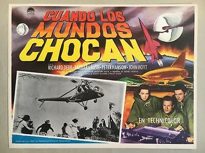 When Worlds Collide (Cuando Los Mundos Chocan) 1951, Mexican Lobby Card, Copter