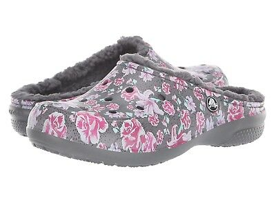 Crocs Women's Freesail Graphic Lined Clog Multi Floral/Slate Grey