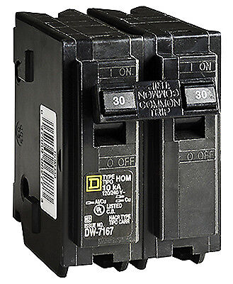 SQUARE D BY SCHNEIDER ELECTRIC Homeline 30-Amp Double-Pole Circuit Breaker