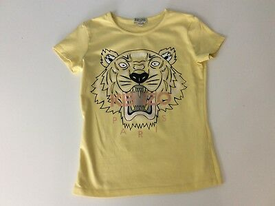 Kenzo Yellow Tiger Face Short Sleeve T Shirt Age 10 Years Size 140