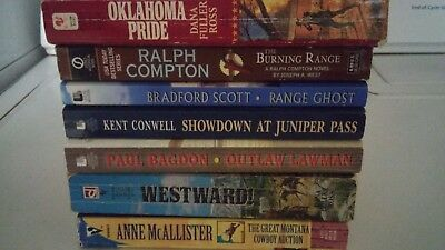 lot of 7 Western paperback books