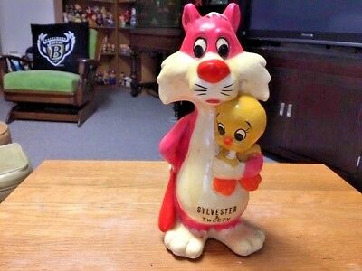 Sylvester Cat with Tweety Bird Bank Figure- Looney Tunes - Vintage and Very Rare