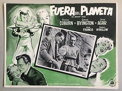 The Rocket Man (Fuera Del Planeta) 1954, Mexican Lobby Card, point and shoot
