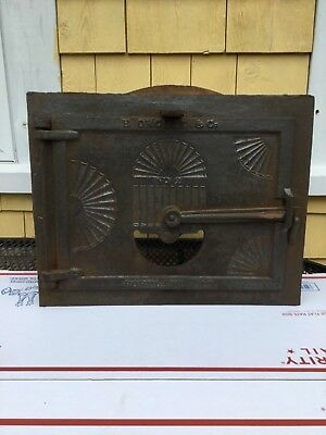 Early New England Beehive Oven Door / With Frame & Damper Portland Maine Orcutt