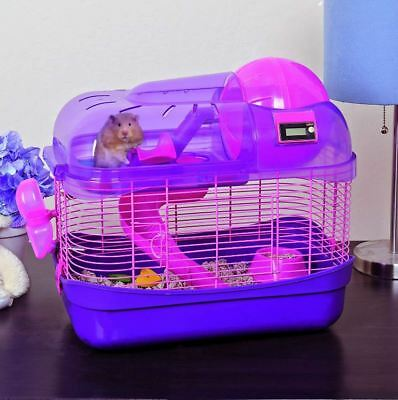 Hamster Cage Pet Mouse Home Gerbil Playground Exercise Ball Teeter Totter Slide