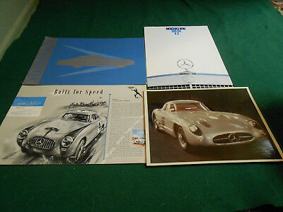 1955 MERCEDES-BENZ 300 SL BROCHURE & Color PHOTO + 300 SEL 6.3 BROCHURE