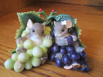 """Charming Tails Fitz & Floyd """"I'm So Grape-ful For You""""   #89/170"""