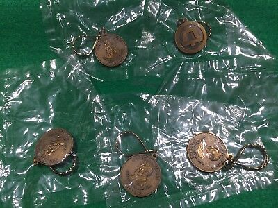Lot of 5 Vintage Bell Telephone Advertising One Bell System Key Rings