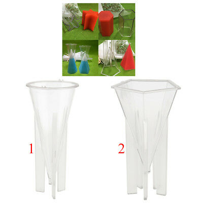 2Pcs Cone Pyramid Candle Mould For Home Candle Making Craft Diy Soap Tool