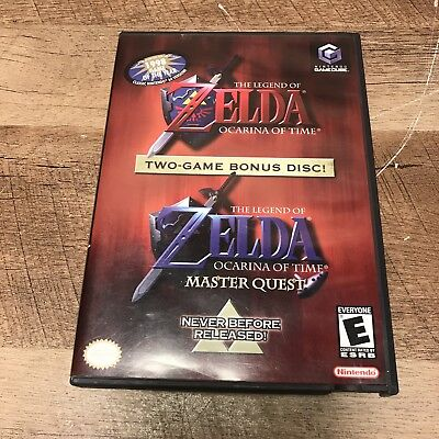 Nintendo Gamecube ZELDA Ocarina of Time 2 Game Bonus Disc Master Quest COMPLETE