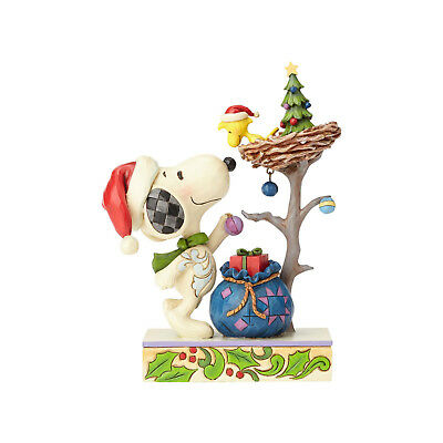 Peanuts by Jim Shore Snoopy Woodstock Tis The Season Christmas Figure