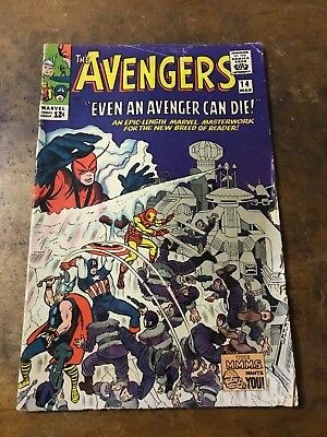 Silver Age Marvel comic The Avengers #14 (Mar 1965, Marvel)