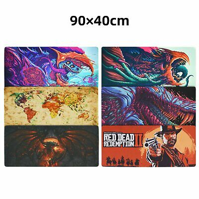 Large XXL Speed Gaming Mouse Pad Desk Mat Anti-Slip Laptop Keyboard 900x400mm
