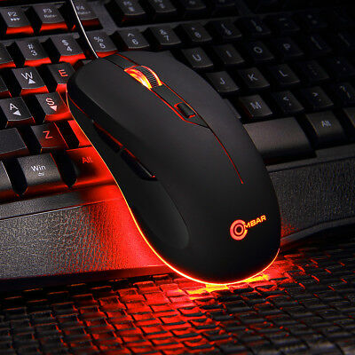 4000DPI LED Optical USB Wired Gaming Mouse Gamer Computer Laptop PC Backlit Mice