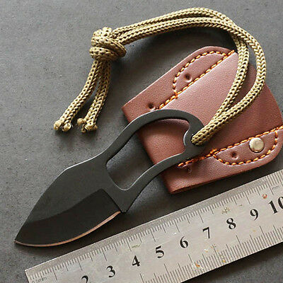 Mini Pocket Finger Paw Self-Defence Survival Fishing Neck Knife With Sheath Gift