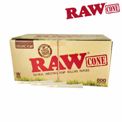 RAW ORGANIC Cones Pre-Rolled King Size Box 800
