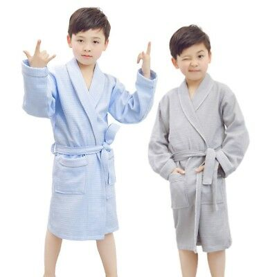 Boys Bathrobe Hooded Bath Towel Children Dressing Gown Kids Sleepwear Homewear