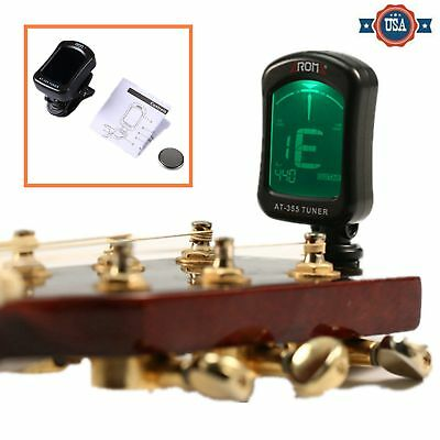 Portable Aroma AT-355 Clip On Large LCD Guitar Ukulele Easy Tuner 6 Tuning Modes