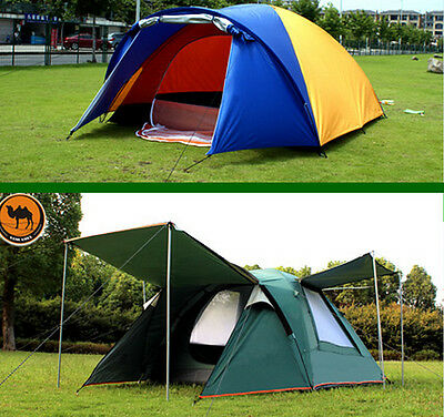 Family Outdoor Camping Automatic Waterproof Double layer 3-4 Person Instant Tent
