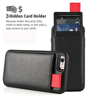 Leather Wallet Card Holder Hard Case Cover For Apple iPhone XS Max X 8 7 6S Plus