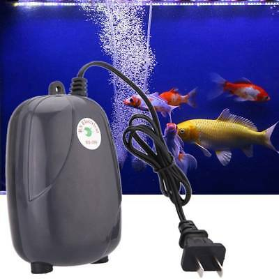 Aquarium Air Pump Fish Tank Silent Compressor Single Double Outlet Oxygen Pumps