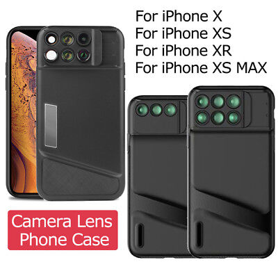 Fisheye Wide Angle Macro Telescope Camera Lens Cover Case for iPhone X XR XS Max