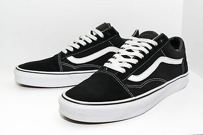 Vans Old Skool Black Skateboarding Shoes Classic Canvas Suede Size Mens 11